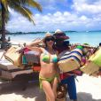 Eve Angeli dévoile les coulisses de ses vacances à Maurice sur Facebook, samedi 6 février 2016.