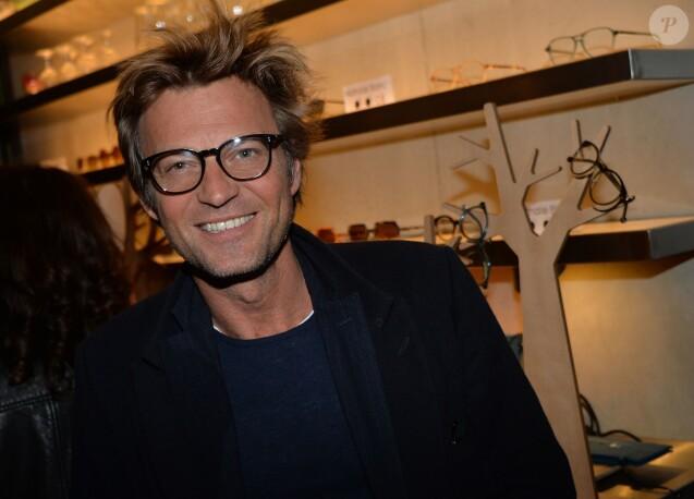 """Exclusif - Laurent Delahousse - Lancement de la marque de lunettes """"Nathalie Blanc"""" au restaurant """"Ma Cocotte"""" à Saint-Ouen le 24 septembre 2015."""