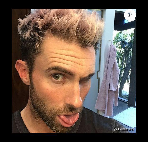 Adam Levine s'est teint les cheveux en rose. Photo publiée sur Instagram, le 6 février 2016.