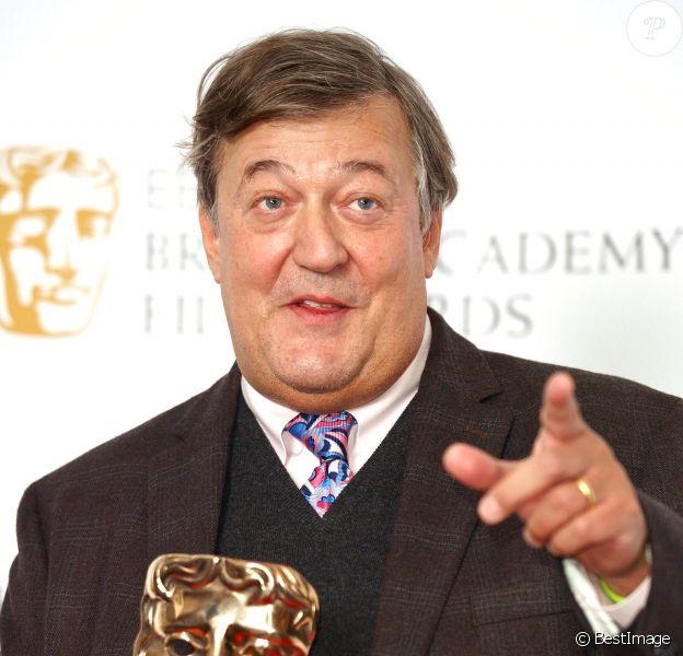 Stephen Fry - Photocall des nominations aux BAFTA à Londres le 8 janvier 2016.