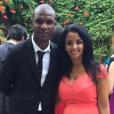 Eric Abidal et sa femme Hayet - juillet 2015