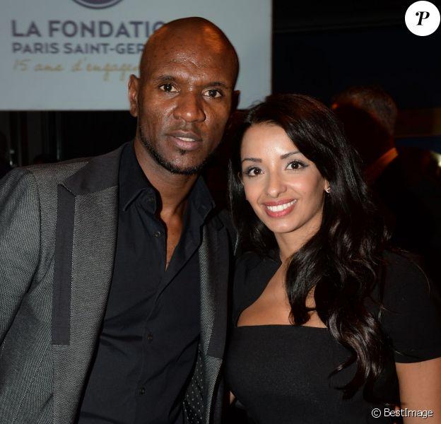 Exclusif - Eric Abidal et sa femme Hayet - Soirée de gala de la Fondation Paris Saint-Germain qui fête ses 15 ans au Pavillon Gabriel à Paris le 27 janvier 2015.