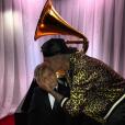 Justin Bieber à la cérémonie des Grammy avec son petit frère Jaxon. Photo publiée sur Instagram, le 16 février 2016.