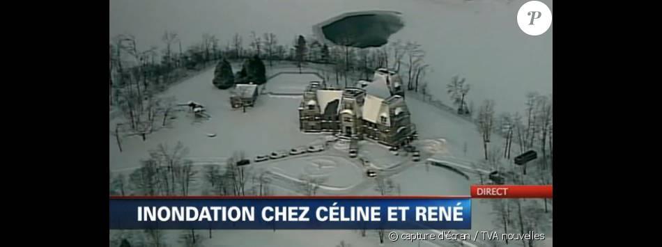 Le domaine de Céline Dion a connu un dégât des eaux, révélé par TVA nouvelles. Février 2015