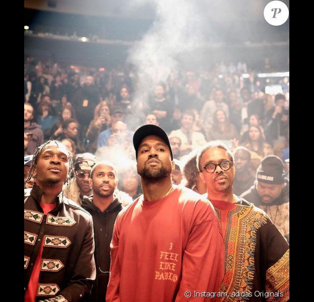 Kanye West - Présentation YEEZY Season 3 au Madison Square Garden. New York, le 11 février 2016.