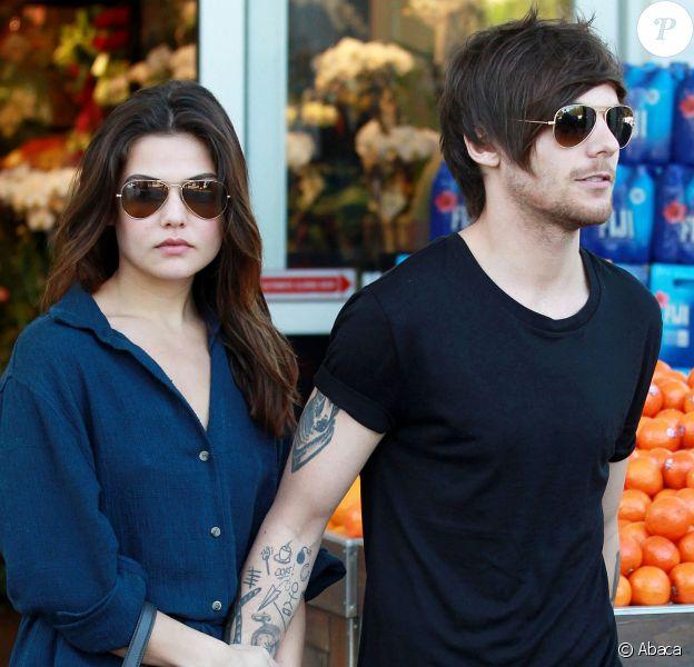 Louis Tomlinson de One Direction et sa petite amie Danielle Campbell font quelques courses et mangent un morceau au Bristol Farms de Beverly Hills, à Los Angeles, le 20 février 2016.