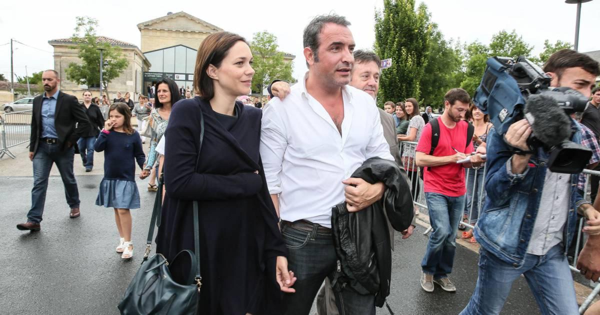 Jean dujardin et sa compagne nathalie p chalat l for Jean dujardin 30 ans