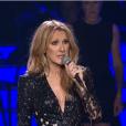 Céline Dion, sur scène pour la première fois depuis la mort de René Angélil, le 23 février 2016 à las Vegas