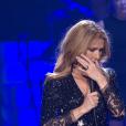 Célion Dion, sur scène pour la première fois depuis la mort de son époux René Angélil, à Las Vegas le 23 février 2016