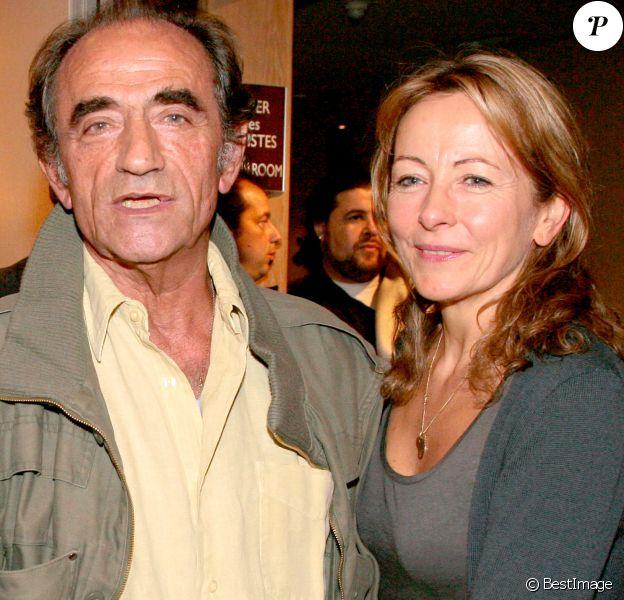 Exclusif - Richard Bohringer et sa femme Astrid à Paris le 26 octobre 2007.