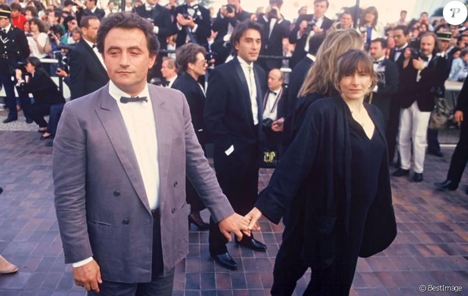 Richard Bohringer et sa femme Astrid à Cannes en 1987 ...