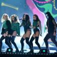 Le groupe Little Mix - Cérémonie des BRIT Awards 2016 à l'O2 Arena à Londres, le 24 février 2016.