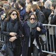 Juliette Brasseur, femme d'Alexandre Brasseur aux obsèques de Guillaume Depardieu
