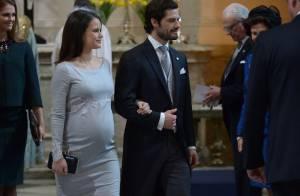 Princesse Sofia : Enceinte de 8 mois (d'une fille ?) à la messe pour bébé Oscar