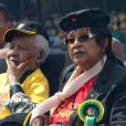 Nelson Mandela et Winnie à Johannesbourg le 19 avril 2009.