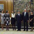 Felipe, Letizia, Sofia, Rania, Abdallah, Juan Carlos, Noor et Hamzah