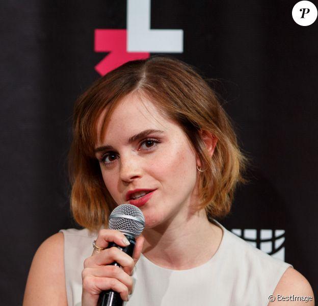 """Emma Watson - Lancement de """"HeForShe arts week"""" à l'occasion de la journée internationale de la femme à New York. Le 8 mars 2016"""