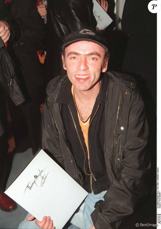 Elie Kakou au défilé Thierry Mugler haute couture printemps-été 1998 le 17/01/1998
