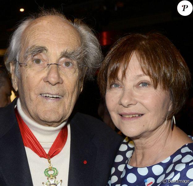 Exclusif - Michel Legrand et sa femme Macha Méril - Michel Legrand promu au grade de Commandeur dans l'ordre de la Légion d'Honneur à Paris le 7 mars 2016.