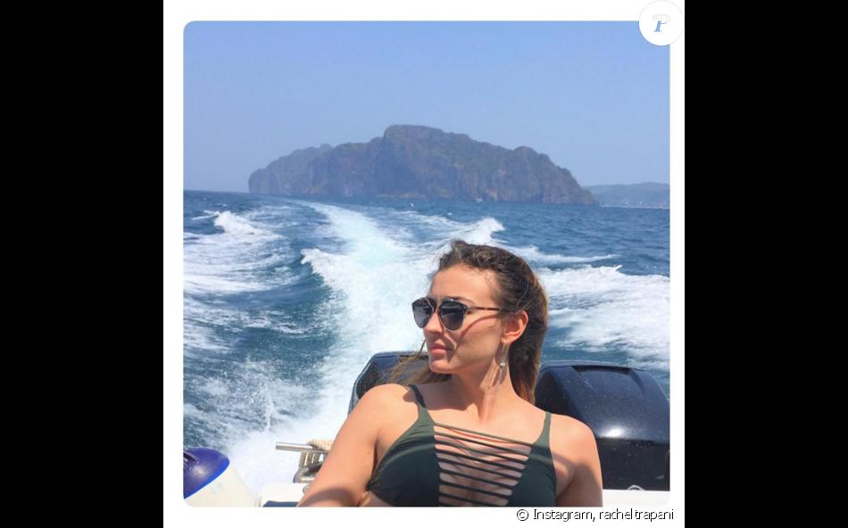 Rachel Legrain-Trapani et son mari le footballeur Aurélien Capoue en voyage en amoureux en Thaïlande. Février-mars 2016.