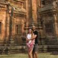 Rachel Legrain-Trapani et son mari le footballeur Aurélien Capoue en amoureux en Thaïlande. Février-mars 2016.