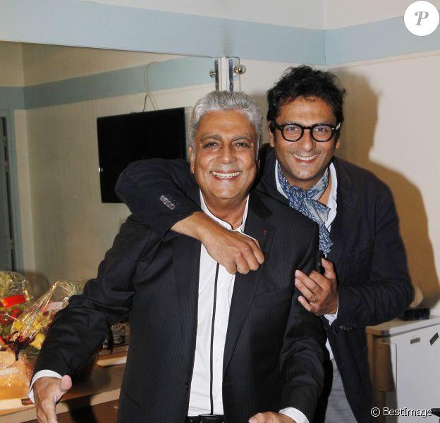 Enrico Macias et son fils Jean-Claude Ghrenassia, le 07/09/2012 - PARIS
