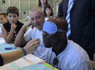 REPORTAGE PHOTOS : Claude Makelele, se met en situation d'être... un aveugle !