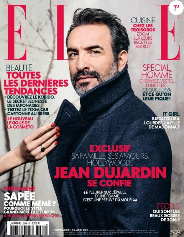 Magazine Elle du 25 mars 2016 avec Jean Dujardin en couverture
