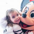 Jade Foret, ses trois enfants, Liva (3 ans), Mila (2 ans) et Nolan (2 mois) ont passé le week-end à Disneyland Paris pour l'anniversaire de Mila. Mars 2016.