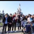 Jade Foret, ses trois enfants, Liva (3 ans), Mila (2 ans) et Nolan (2 mois) à Disneyland Paris pour l'anniversaire de Mila. Mars 2016.