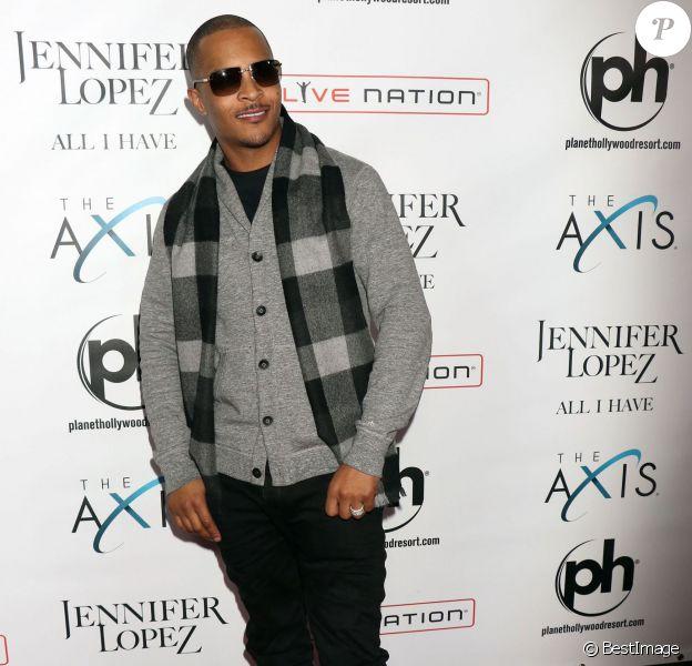 """Le rappeur T.I. à la première représentation de """"All I Have"""", le nouveau show de Jennifer Lopez, au Planet Hollywood Resort & Casino à Las Vegas, le 20 janvier 2016."""
