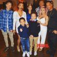 Le rappeur T.I., sa femme Tameka enceinte, et les six enfants de leur famille recomposée. Photo publiée sur Instagram au mois de mars 2016.