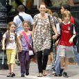 Julianne Moore et ses trois enfants