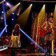 Tamara, Louisa Rose et Melody Pastor s'affrontent lors de l'épreuve ultime dans The Voice, samedi 16 avril 2016 sur TF1