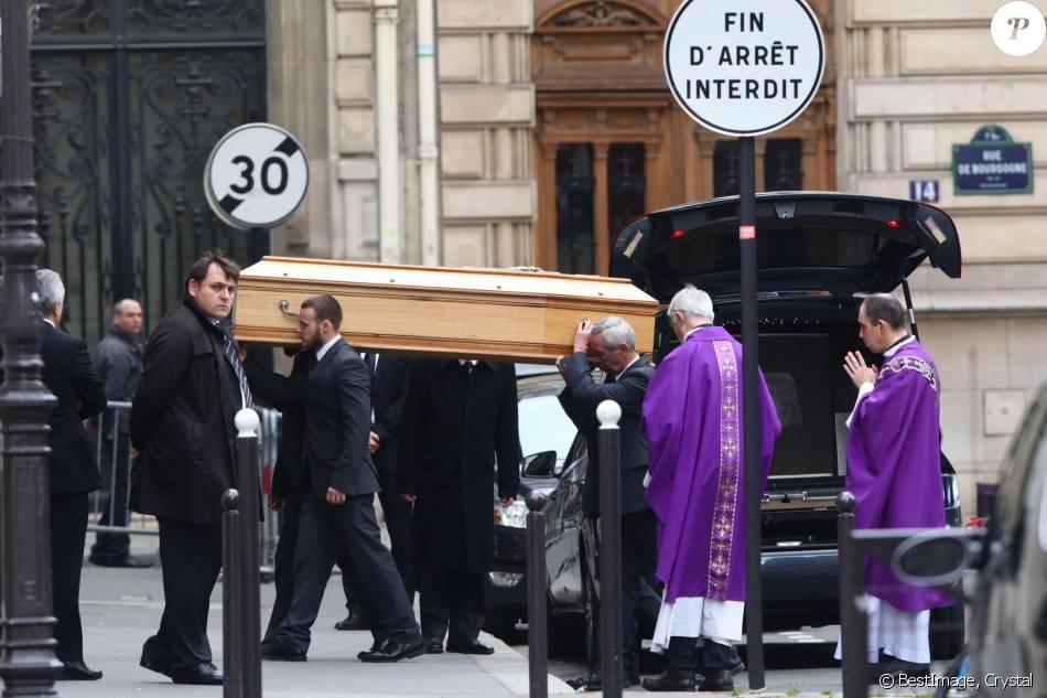 Les obsèques de Laurence Chirac organisée à Paris le 16 avril 2016