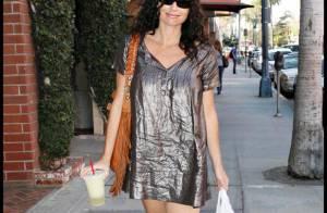 REPORTAGE PHOTOS : Minnie Driver, la robe mini lui va... trop bien!
