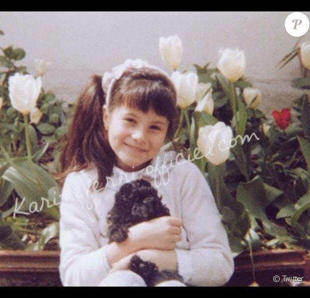 Karine Ferri : Adorable lorsqu'elle n'était encore qu'une fillette !