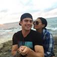 Sami Miro et Zac Efron à la plage / photo postée sur Instagram.