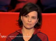 """Juliette Binoche """"heureuse"""" : """"Je suis revenue avec quelqu'un d'antan"""""""