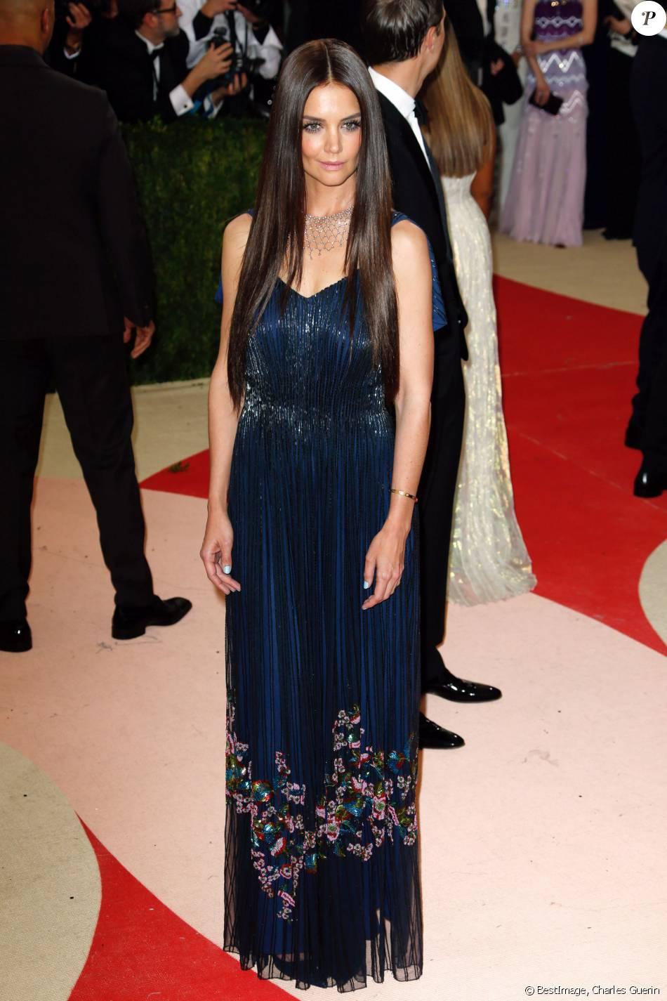 katie holmes en robe zac posen au met gala le 2 mai 2016