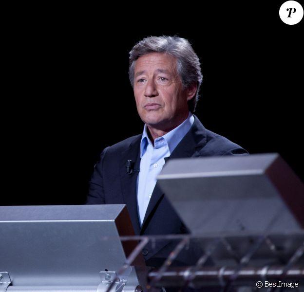 Patrick Sabatier lors de l'enregistrement de l'émission Mot de Passe à Paris, le 9 septembre 2012.