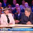 Geneviève de Fontenay, Pierre Ménès et Clara Morgane, invités sur le plateau de  Faut pas abuser !  (diffusion le mardi 10 mai 2016 à 21h00 sur D8).