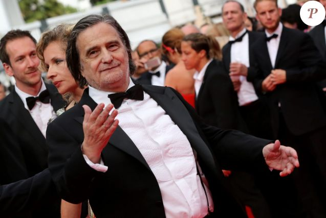 "Jean-Pierre Léaud - Montée des marches du film ""The Search"" lors du 67e Festival du film de Cannes le 21 mai 2014"