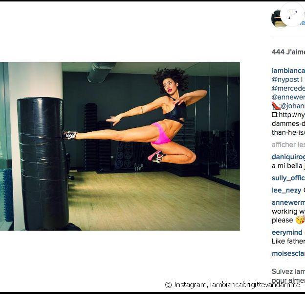 Bianca Van Damme lors d'un shooting photo pour le New York Post. Photo publiée sur Instagram, le 8 mai 2016