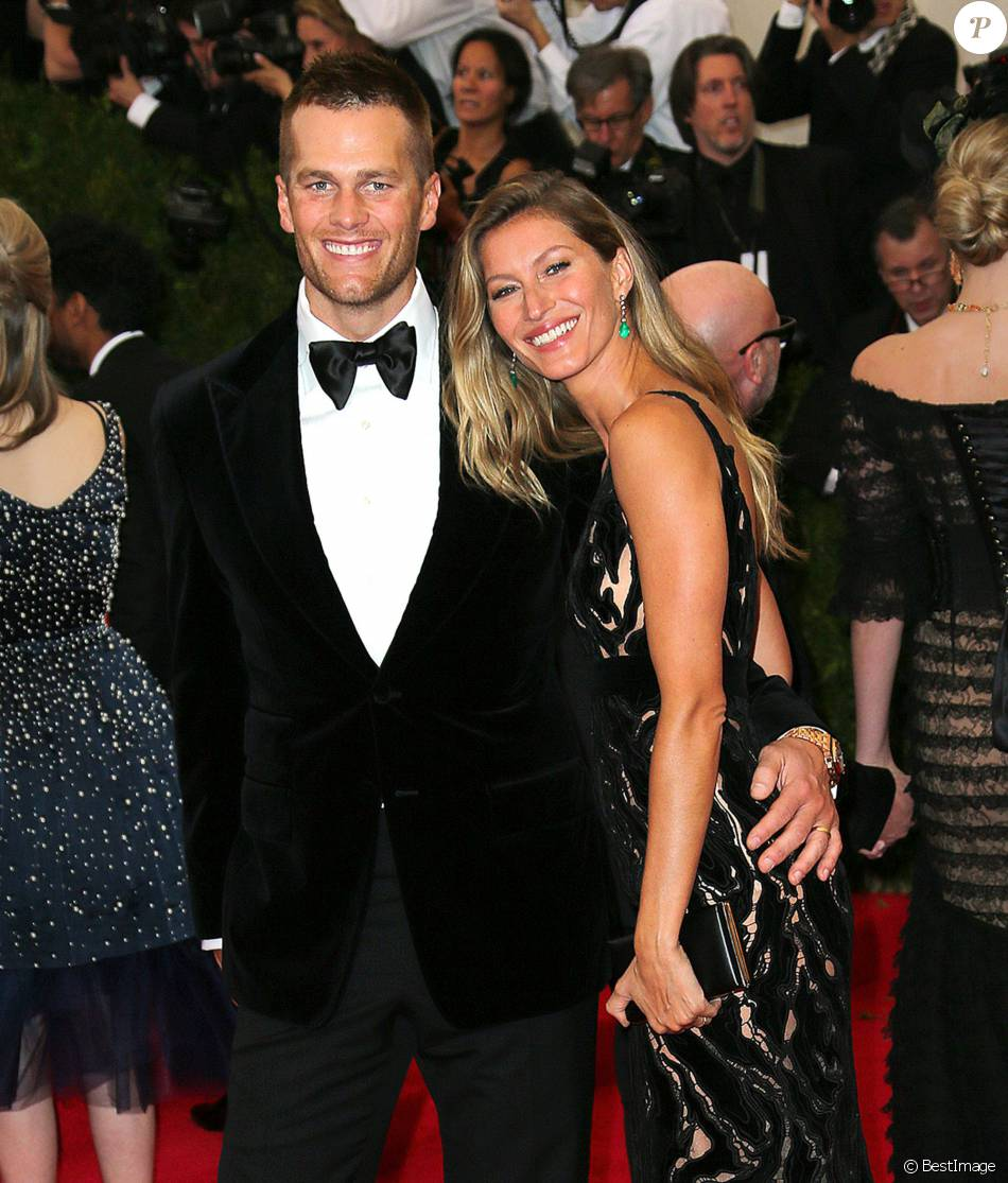 "Tom Brady et sa femme Gisele Bündchen - Soirée du Met Ball / Costume Institute Gala 2014: ""Charles James: Beyond Fashion"" à New York le 5 mai 2014"