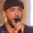 Slimane lors de la finale de The Voice 5, sur TF1, le samedi 14 mai 2016