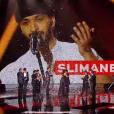 Slimane grand gagnant de The Voice 5 lors de la finale de The Voice 5, sur TF1, le samedi 14 mai 2016