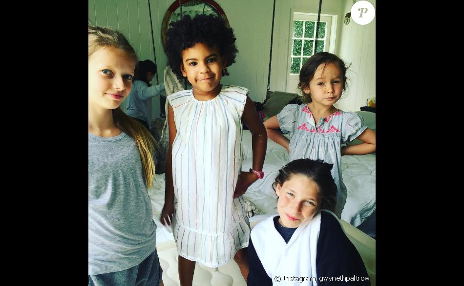 Gwyneth Paltrow fête les douze ans de sa fille Apple lors d'un brunch d'anniversaire où elle a invité Blue Ivy, la fille de Beyoncé et Jay Z. Photo publiée sur Instagram, le 14 mai 2016