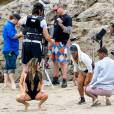 "Ally Brooke (Fifth Harmony) surprise en plein tournage du clip de la chanson ""All In My Head"" (feat. Fetty Wap) sur la plage de Malibu. Los Angeles, le 17 mai 2016."