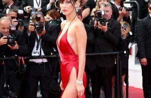 Bella Hadid torride à Cannes : Nue sous sa robe, la belle en montre un peu trop